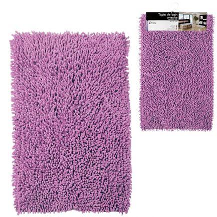 Covor de baie din microfibră, Urban Living, 75x45 cm, mov