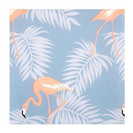 Perdea de duș cu model flamingo, Urban Living, 180x180 cm