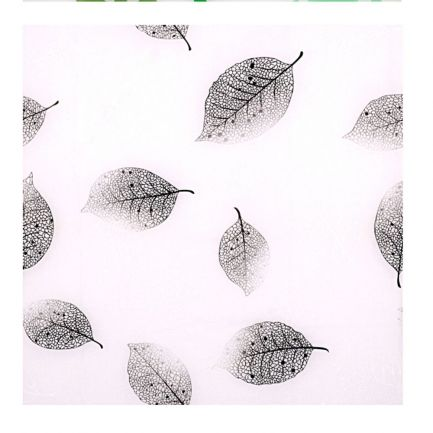 Perdea de duș cu model frunze gri, Urban Living, 180x180 cm