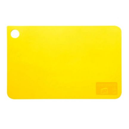 Tocător din plastic, 31.5x20 cm, galben
