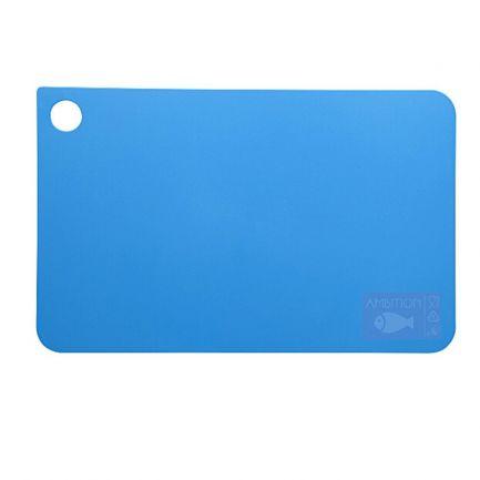 Tocător din plastic, 31.5x20 cm, albastru