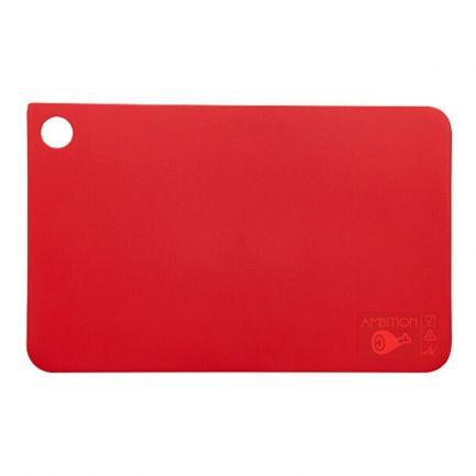 Tocător din plastic, 31.5x20 cm, roșu