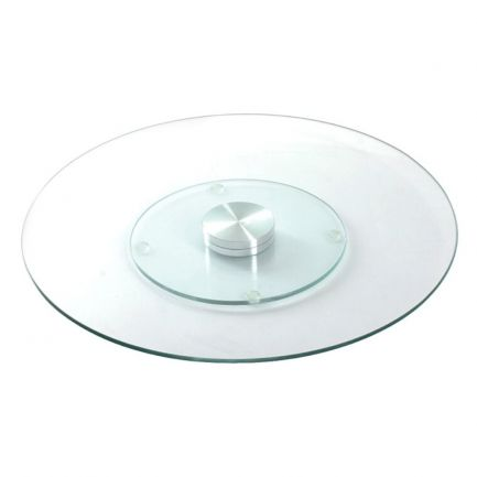 Suport rotativ din sticlă pentru tort, 30 cm