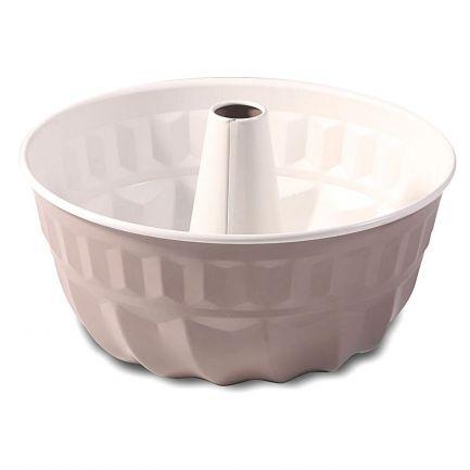 Formă de copt kuglof din aluminiu cu înveliș antiaderent, 26 cm, crem