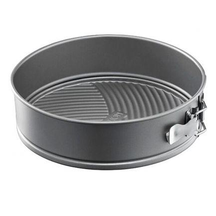 Tavă pentru tort din oțel carbon cu înveliș antiadernt și bază detașabilă, 24 cm, gri