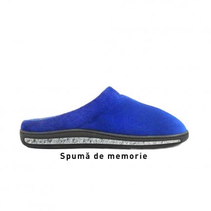 Papuci de casă cu talpă din spumă cu memorie Memory Foam Slippers, Albaștri