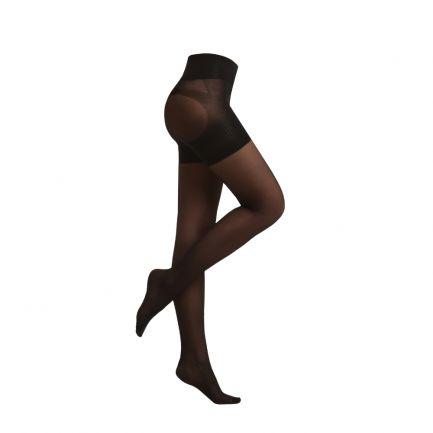 Ciorapi modelatori ultra-rezistenți, 40 DEN, Sankom, negri