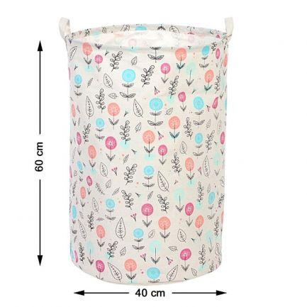 Coș pentru rufe cu imprimeu floral colorat, 60x40 cm