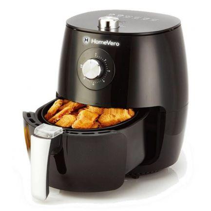 Friteuză cu aer cald, Home Vero Air Fryer, 2.5 L, 1500 W, neagră