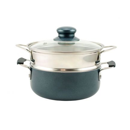 Set pentru gătit la aburi și fondue Grill Circle Pot, diametru 16cm, 1.2L