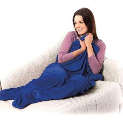 Pătură cu buzunare pentru picioare Warm Feet, albastră
