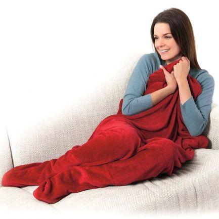 Pătură cu buzunare pentru picioare Warm Feet, roșie