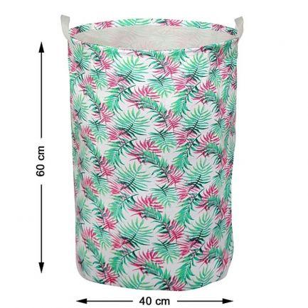 Coș pentru rufe cu imprimeu floral, 60x40 cm