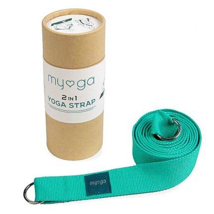 Curea de yoga 2 in 1 Myga, turcoaz