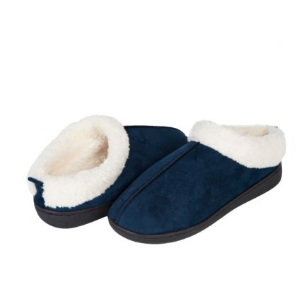 Papuci de casă cu talpă din gel relaxant Confort Gel Premium, Albaștri