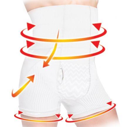 Boxeri modelatori cu talie înaltă, pentru bărbați, Sankom, albi