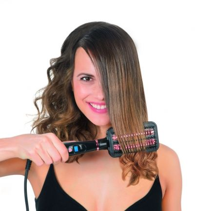 Perie ceramică pentru îndreptat părul Fast Hair Straightener, display LCD, 120-200 grade, 50W