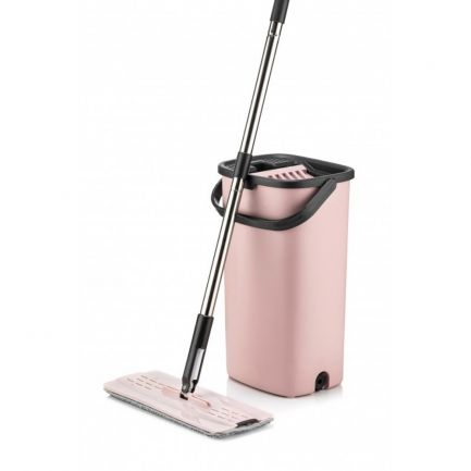 Mop plat cu găleată dublă și sistem de spălare-stoarcere Smart Flat