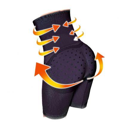 Pantaloni scurți modelatori cu talie înaltă, Sankom, negri