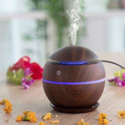 Mini umidificator și difuzor de arome Aroma Diffuser Wood