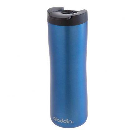 Cană termos cafea, din inox, capac smart grip, 0.47L, albastră