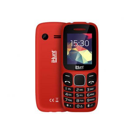 Telefon mobil cu butoane, Feature Compact, Dual SIM, 2G, Roșu