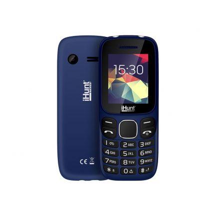 Telefon mobil cu butoane, Feature Compact, Dual SIM, 2G, Albastru