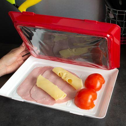 Set 2 tăvițe pentru conservarea și depozitarea alimentelor Clever Tray, eco-friendly