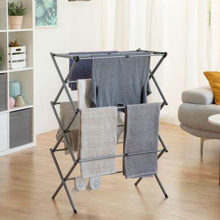 Uscător de rufe din aluminiu, extensibil și pliabil, Folding Clothes Rack