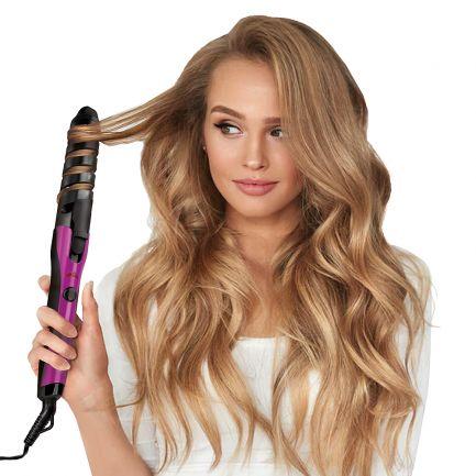 Ondulator de păr în formă de spirală