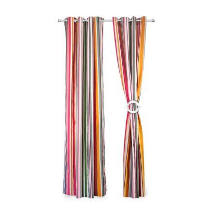 Set 2 draperii model dungi 140x270cm, 100% bumbac, multicolor
