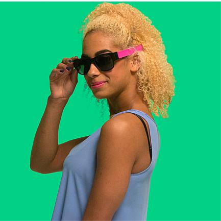 Ochelari de soare flexibili, Clix, Roz