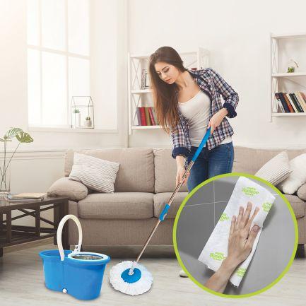 Pachet Avantajos: Mop, Super Easy Clean 360 + Prosoape de bucătărie, Mighty Bamboo Towels