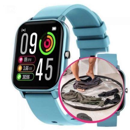 Pachet avantajos: Ceas Wellness Smart Pro, albastru + Geantă covor pentru sală , Smart GymBag