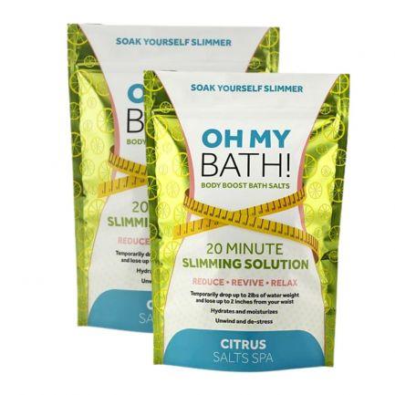 Set 2 pachete Săruri de baie cu efect de slăbire Slimming Bath