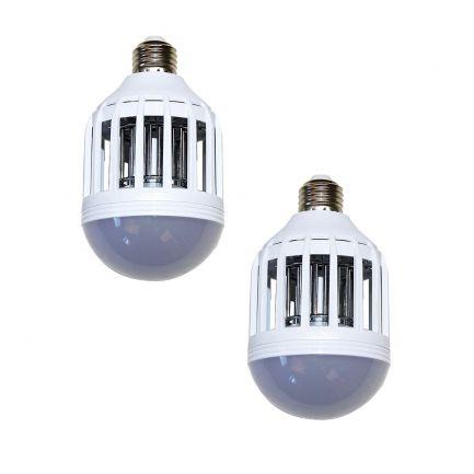 Set 2 lămpi 2in1 antiinsecte cu lumină UV Killer Lamp