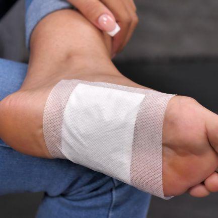 Set 10 plasturi detoxifiere cu bambus, aplicare pe talpa piciorului, Bamboo Patch