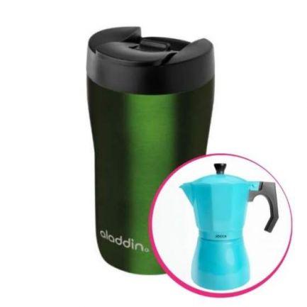 Pachet avantajos: Cană termos latte, 0.25 L + Espressor cafea pentru aragaz
