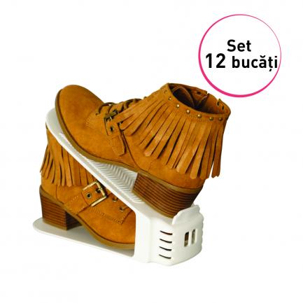 Set 12 organizatoare de pantofi, Shoe Slotz
