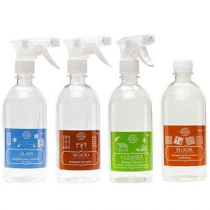 Set 4 soluții pentru curățarea locuinței Home Clean Complete, Bio Green